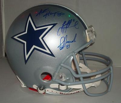 a7105503ef2 Cowboys Stars signed Dallas Cowboys ProLine Riddell Helmet - Aikman,  Novacek, +2