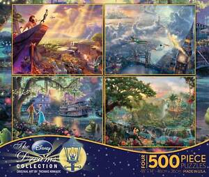 THOMAS KINKADE DISNEY DREAMS COLLECTION MULTI-PACK PUZZLES 500 PCS PETER PAN