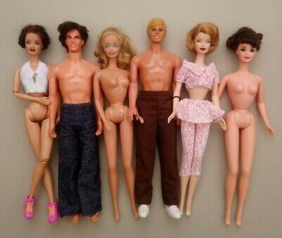 Vintage Barbie & Ken Bundle ~ 6 Dolls ~ Eliza Dolittle etc. ~ Good Condition