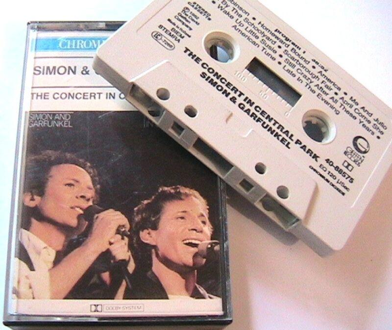 SIMON & GARFUNKEL 1980s MUSIC AUDIO CASSETTE TAPE -THE CENTRAL PARK CONCERT- NEW