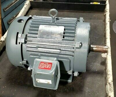 New Leeson 10 Hp Ac Electric Motor 230460 Vac 215t 1765 Rpm 3 Phase 199013.00