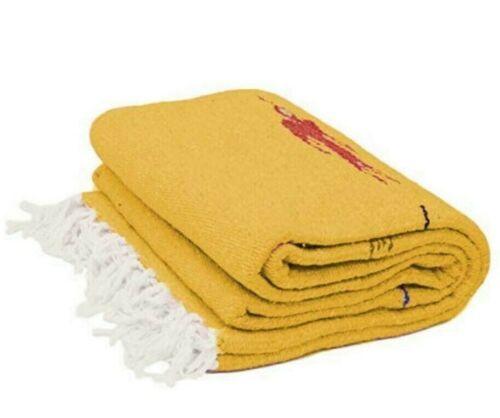 Mexican Blanket Yellow Thunderbird Southwest Yoga Saltillo Serape Falsa Tapestry