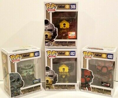 Funko POP Fallout POWER ARMOR COLLECTION E3 GameStop Best Buy Excavator T-51 (Fallout 3 Best Armor)