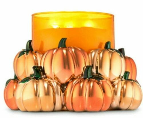 Bath & And Body Works Fall Pumpkin Patch 3 Wick Candle Holder NEW!! See descript