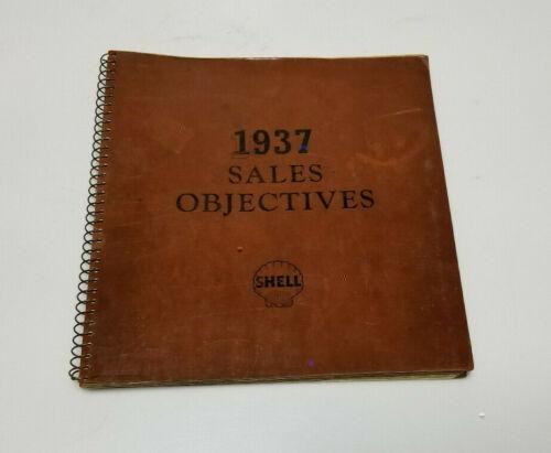 Vintage Shell Oil Log book 1937 Oil Tires Gas Batteries ORIGINAL RARE