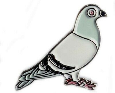 Pigeon Racing Bird Metal Enamel Pin Badge Homing Flight Garden Bird Ornithology