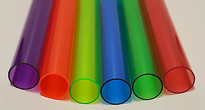 6 Colors 1 14 Od X 1 18 Id Clear Acrylic Tube Red Green Blue Orange Purple