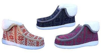 New Women IndoorOutdoor Knitting Slipper Shoe Boot Nice Warm Comfortable3028