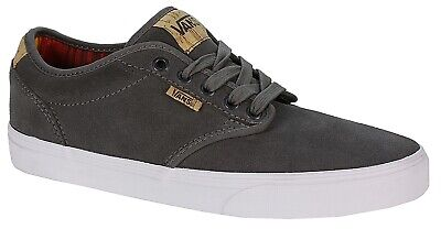 VANS ATWOOD DELUXE YOUTH PEWTER GREY BLANKET SUEDE LACE UP CASUAL SHOE