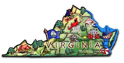 (Virginia The Old Dominion State Artwood Jumbo Fridge Magnet)