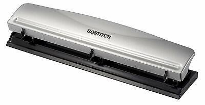 Bostitch Office Hp12 3 Hole Punch - 12 Sheet Capacity - Metal Silver New