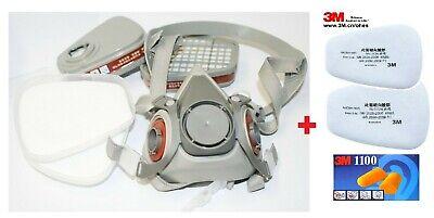 Atemschutzmaske 6200 Halbmaske Gasmaske Staubmaske Lackiermaske mit 3M Filter