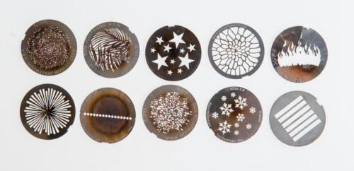 Package of Cyberlight Gobos - Counts listed below / metal patterns