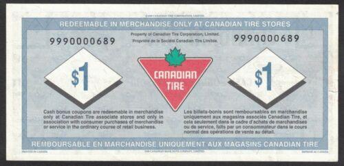 Canadian tire money REPLACEMENT CTC S23-Fa1 1.00 cents EF cash bonus note