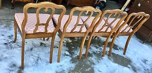 Solid fruitwood French Provincial dining set
