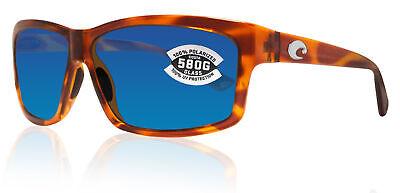 Costa Del Mar Cut Honey Tortoise Frame Blue Mirror 580G Glass Polarized (Costa Del Mar Cut Tortoise)