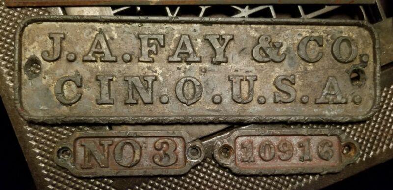 19th Century Antique Machine Table Legs Emblems Cincinnati Ohio
