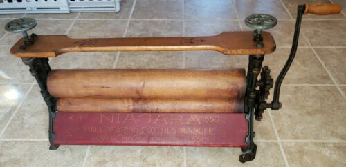 Antique Niagara Ball Bearing Clothes Mangle Wringer No 550 - Lovell MFG Co.NICE!