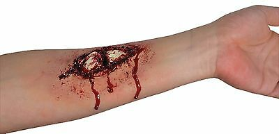 FAKE BROKEN BONE LATEX WOUND SPECIAL EFFECT CUT SCAR F/X PROSTHETIC MAKEUP