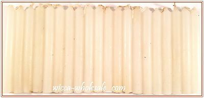 "LOT OF 20 WHITE Chime Spell Candles Mini 4"" Box of 20 Pagan Wicca Altar Ritual"