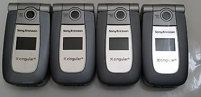 Lot of 4 Sony Ericcson Z500a Cingular  Cell Phones All Power Up All Sony Ericsson Cell Phone