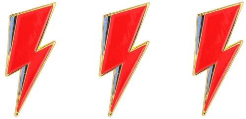 David Bowie Lightning Bolt Logo Lot of 3 Lapel Pin Metal Enamel Pin-back Emblem