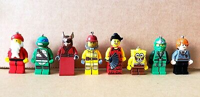 Lego Random Minifigures. Lot of 8. New. 6 were keychains.