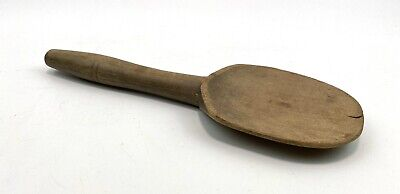 Vintage French Wooden Dairy Spoon Kitchenalia Country House Rustic