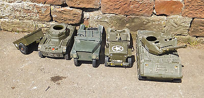 CHERILEA Army VEHICLES Tank CAR Military TOYS Collectible ACTION MAN War Vintage