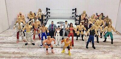 Lot of 31 WWE WCW RAW Jakks & Mattel Wrestling Figures Ring See Wrestler Picture