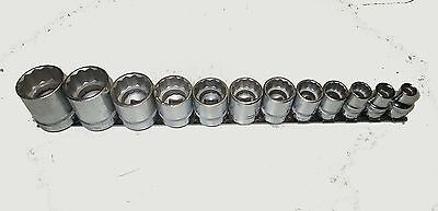 """New Duro Indestro 3/8"""" Drive 12 Piece SAE Socket Set - 5/16"""" to 1"""" - Made in USA"""
