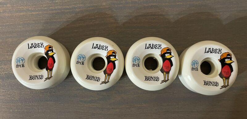 Bones Bucky Lasek Skateboard Wheels 58mm 84bSpf (oriole bird)