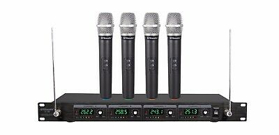 4 Channel Wireless System (GTD Audio 4 Channel VHF Handheld Wireless Microphone System Mic (Brand New) 380H )