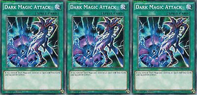 Dark Magic Attack YGLD-ENC29 1st (Mint X 3) YUGIOH Common Spell Cards