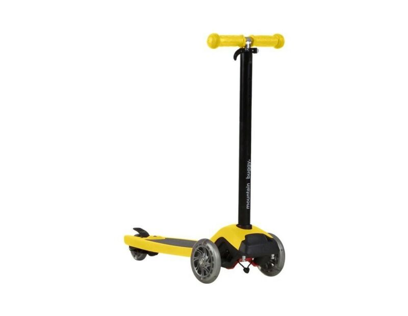 NEW Mountain Buggy Freerider Stroller Board & Scooter w/Connector - YELLOW