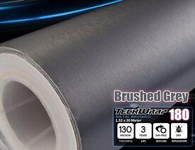 Brushed Metal GREY Aluminium Vinyl Carbon Wrap Film Car Sticker