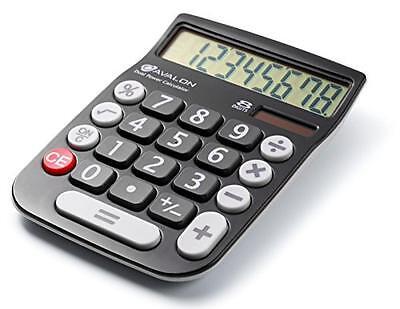 Avalon 8 Digit Dual Powered Desktop Calculator, LCD Display, Black, New, Free Sh