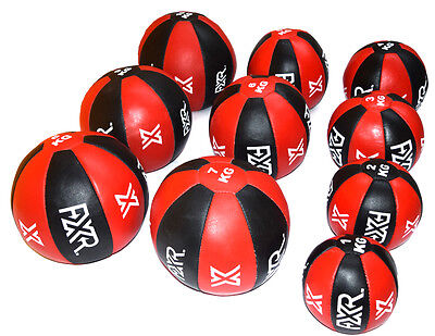 FXR SPORTS LEATHER MEDICINE BALL MMA BOXING CROSSFIT TRAINING STRENGTH