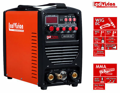 Tig Welders Smato H200 D.c Inverter Arc Welding Machine 5.5kva Weight Lightening Mini V_e