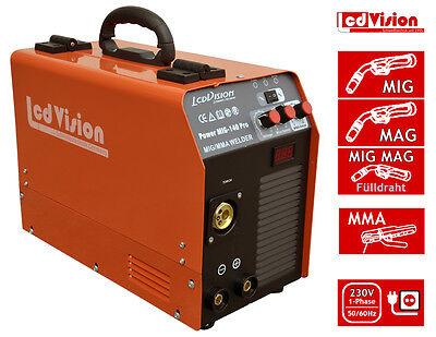 MIG MAG Schweißgerät MIG-140 PRO & MMA E-Hand - IGBT Inverter 230V Schutzgas