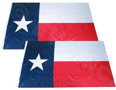 Wholesale Combo Pack of 2 Texas Nylon Poly 3x5 ft Premium Flag House Banner