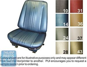 1970 Chevelle Black Front Buckets Seat Covers - PUI