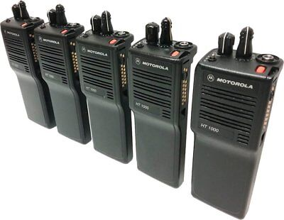 5x Motorola Ht1000 Two Way Radio Vhf 136-174 Mhz 16-channel Narrowband Portables