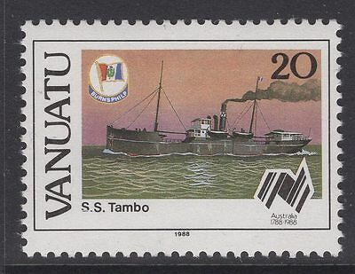 VANUATU SG496w 1988 20v AUSTRALIAN SETTLEMENTS WMK CROWN TO RIGHT OF CA MNH