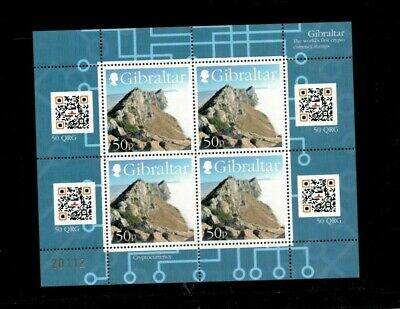 Gibraltar 2018 - Worlds first Crypto Currency stamps - Sheet of 4 - MNH