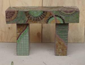 Mosaic garden seat bench hand made Mornington Peninsula Rosebud Mornington Peninsula Preview