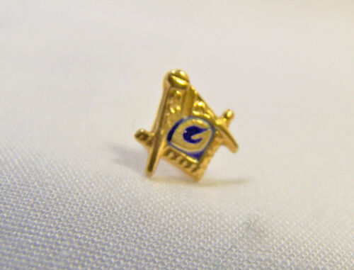Nice 10 K Yellow Gold Masonic Mason's Lapel Pin Tie Tac