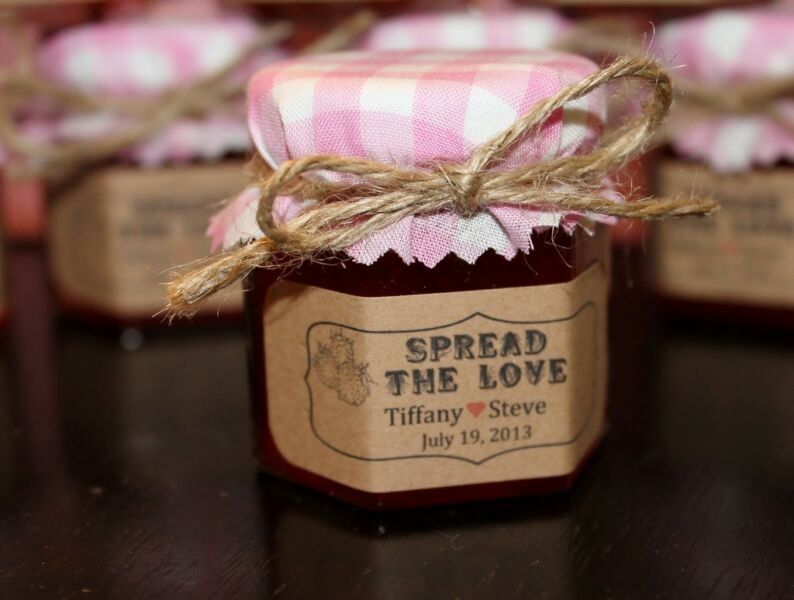 Homemade Wedding Shower Gifts: Homemade Jam Wedding / Shower / Party Favors / Gift