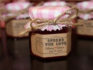 Homemade Jam Wedding / Shower / Party Favors / Gift/ Bonbonniere