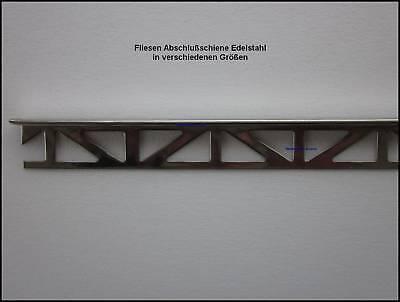 Fliesenabschlußschiene 10mm  Edelstahl Schiene 1m B98